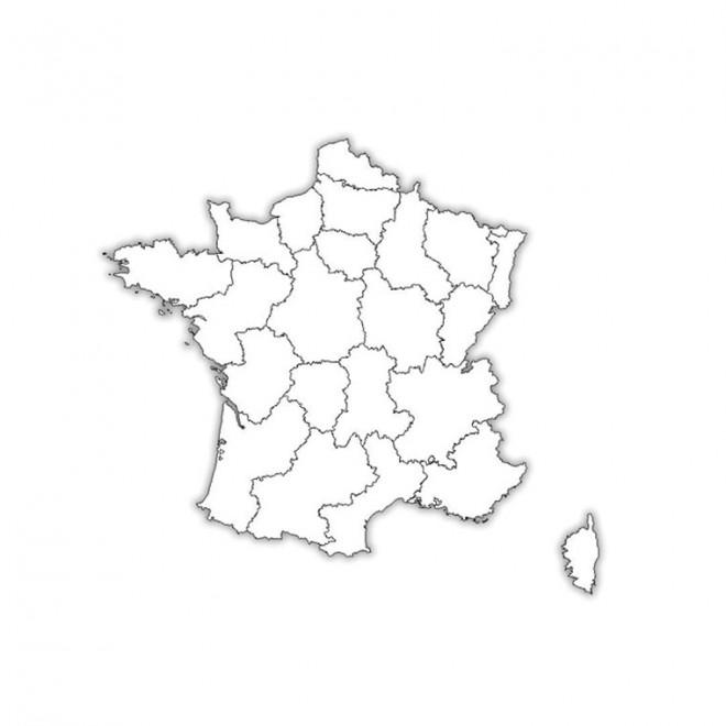 Coloriage et dessins gratuits Carte de France à imprimer