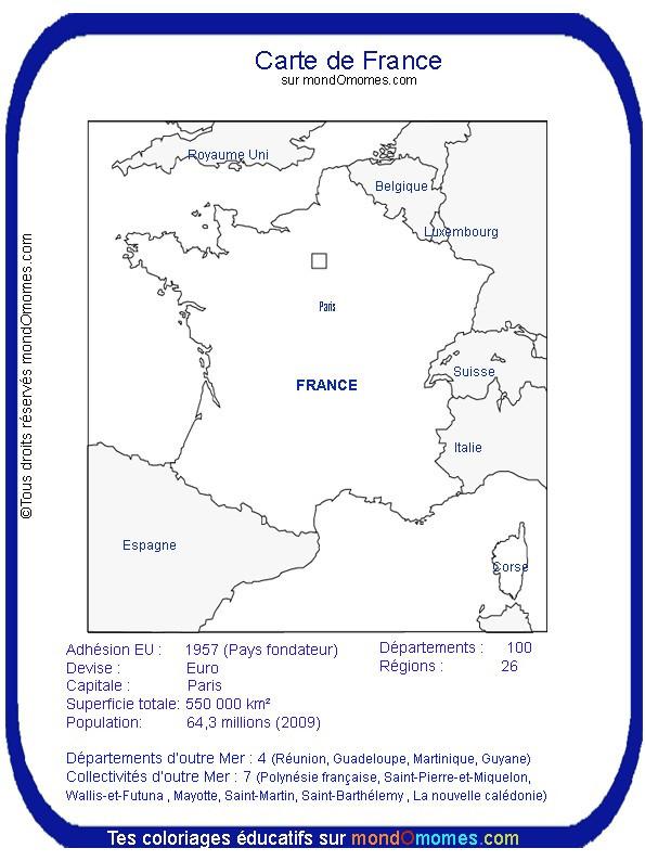 Coloriage Carte De France A Colorier En Ligne