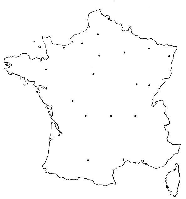 Coloriage et dessins gratuits Carte de France à colorier par département à imprimer