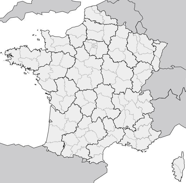 Coloriage et dessins gratuits Carte de France dans L'environnement européen à imprimer