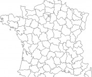 Coloriage Carte de France maternelle