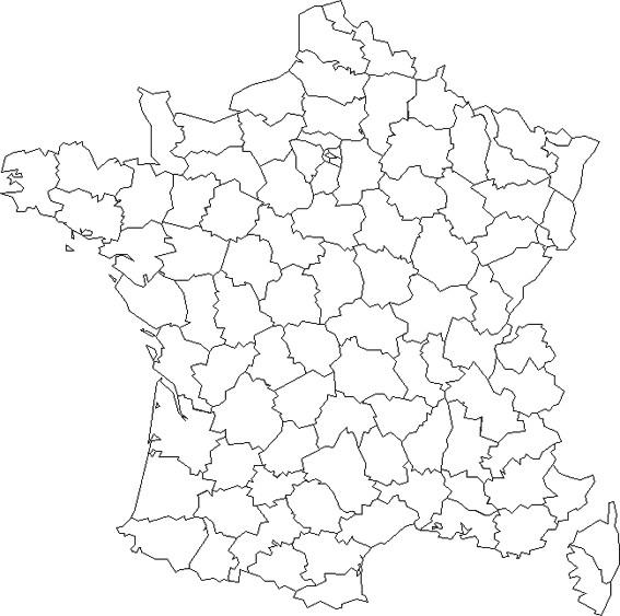 Coloriage et dessins gratuits Carte de France maternelle à imprimer