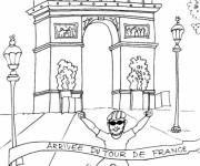 Coloriage et dessins gratuit Champs-Élysées à imprimer