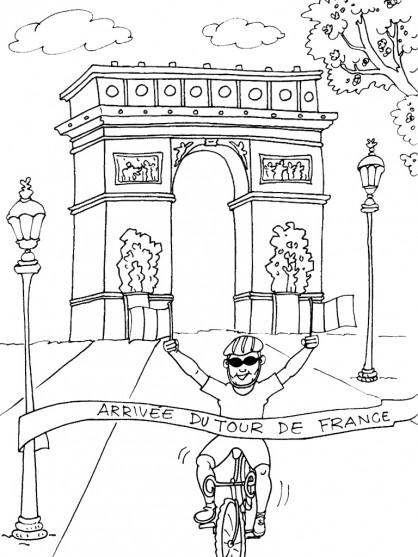 Coloriage et dessins gratuits Champs-Élysées à imprimer