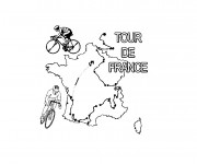 Coloriage Cyclisme Tour De France