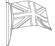 Coloriage et dessins gratuit Drapeau Angleterre facile à imprimer