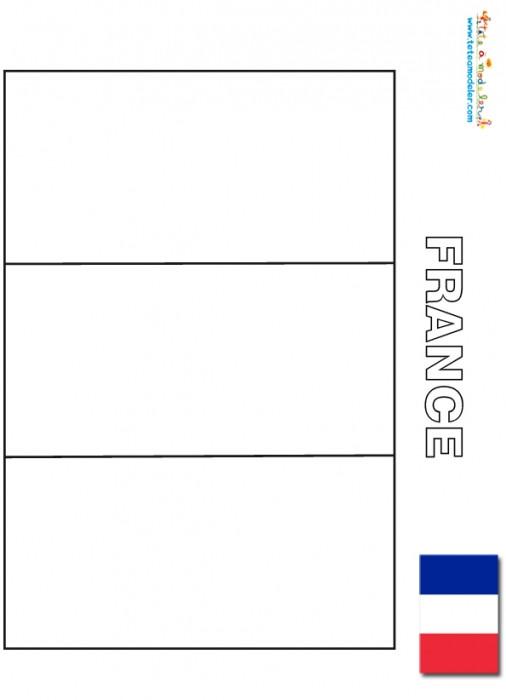Coloriage et dessins gratuits Drapeau France maternelle à imprimer