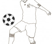 Coloriage et dessins gratuit Footballeur Français à imprimer