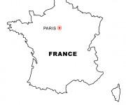 Coloriage et dessins gratuit France et sa Capitale à imprimer