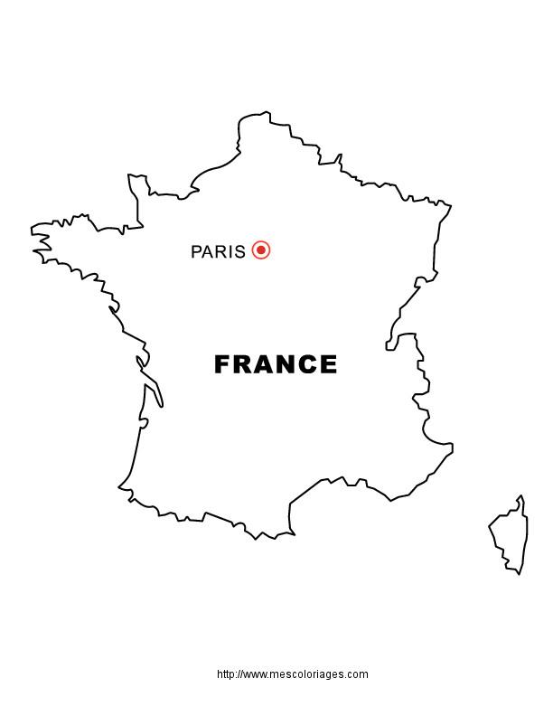 Coloriage et dessins gratuits France et sa Capitale à imprimer