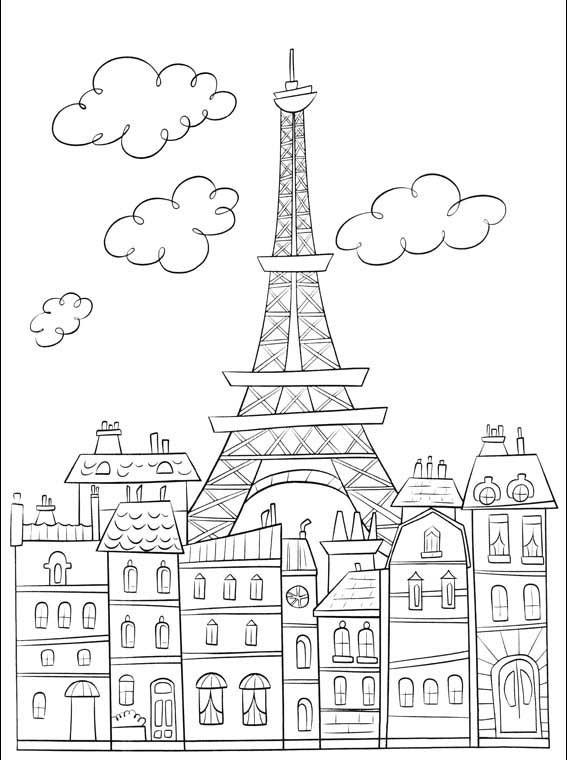 Coloriage et dessins gratuits France Paris magnifique à imprimer
