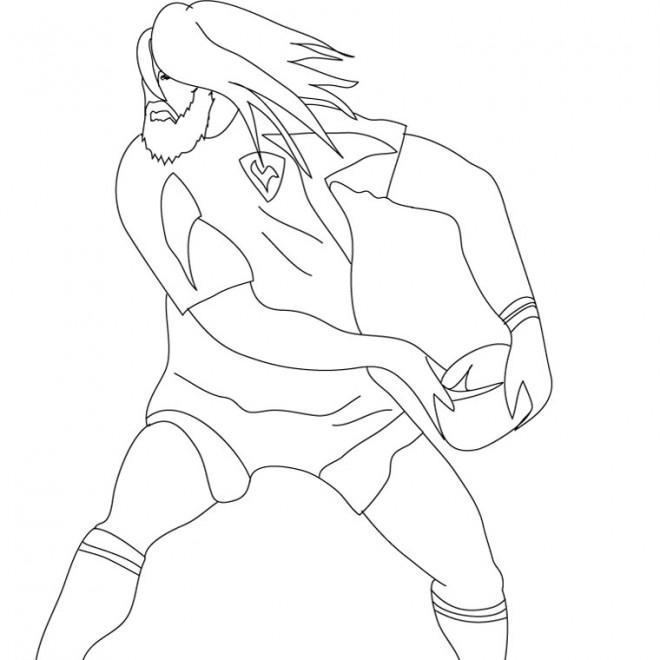 Coloriage et dessins gratuits France Rugby à imprimer