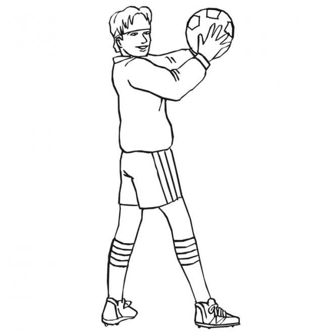 Coloriage et dessins gratuits Joueur de Foot Français à imprimer