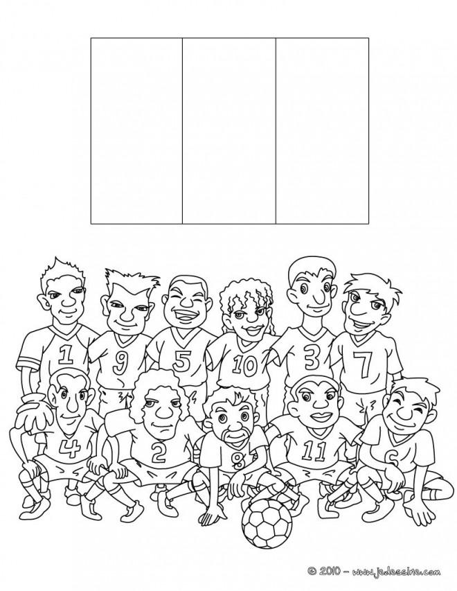 Coloriage et dessins gratuits L'équipe française de Football à imprimer
