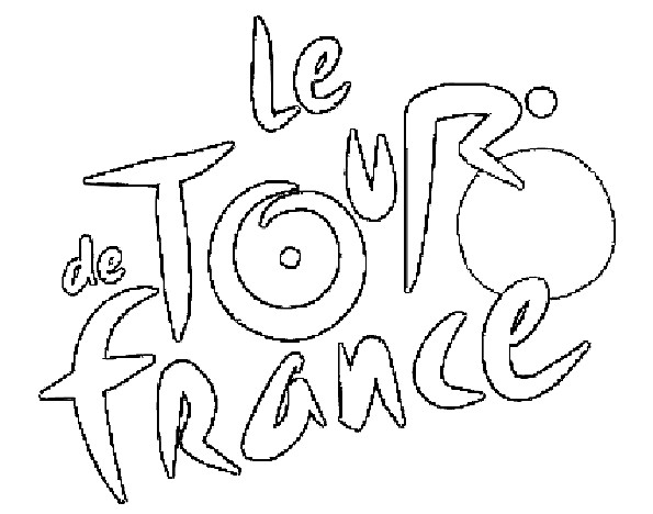 Coloriage et dessins gratuits Le Tour de France Logo à imprimer