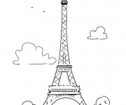 Coloriage Le Tour Eiffel en France