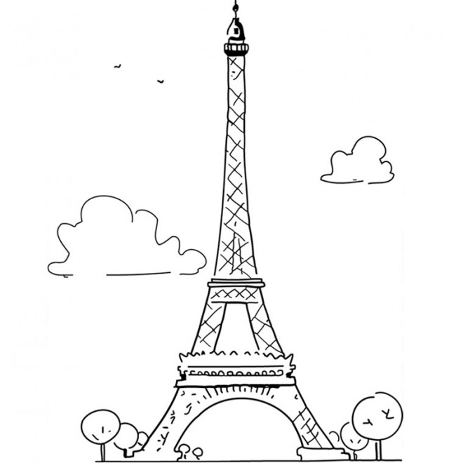 Coloriage A Imprimer Tour Eiffel.Coloriage Le Tour Eiffel En France Dessin Gratuit A Imprimer
