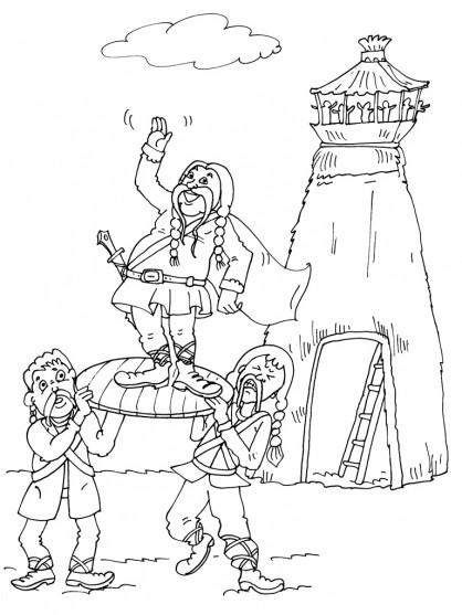 Coloriage et dessins gratuits Obélix Héro légendaire français à imprimer