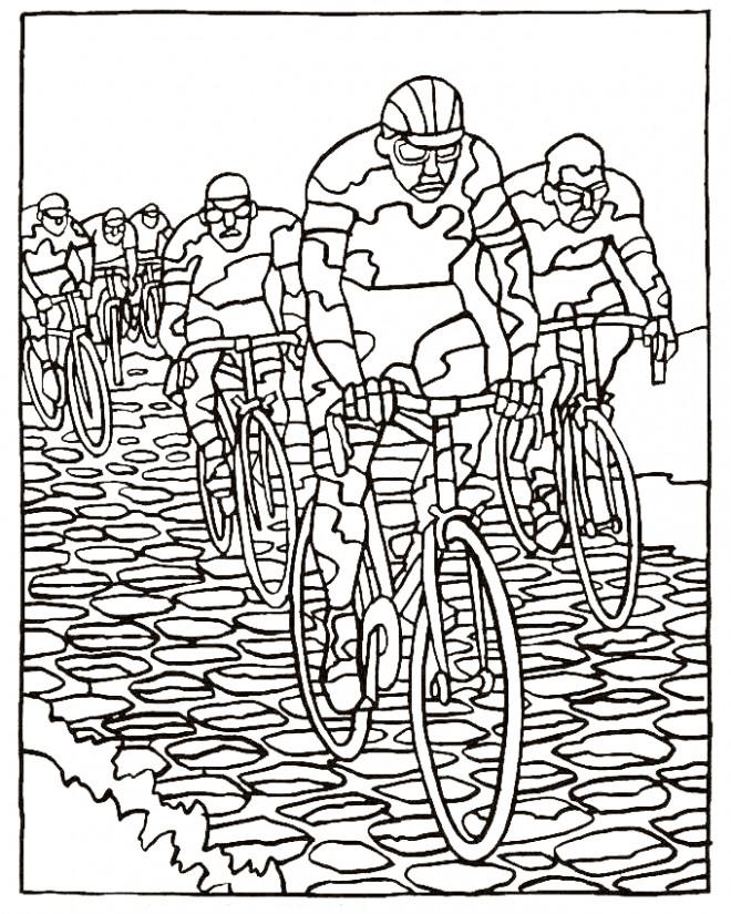 Coloriage et dessins gratuits Paysage de Tour de France à imprimer