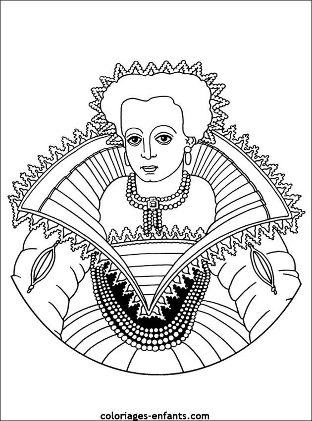 Coloriage et dessins gratuits Reine Vierge à imprimer