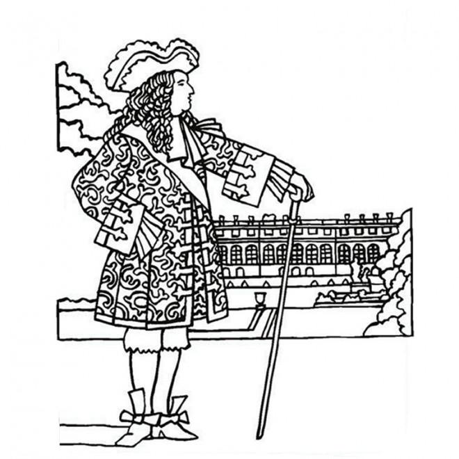 Coloriage et dessins gratuits Roi de France Versailles à imprimer