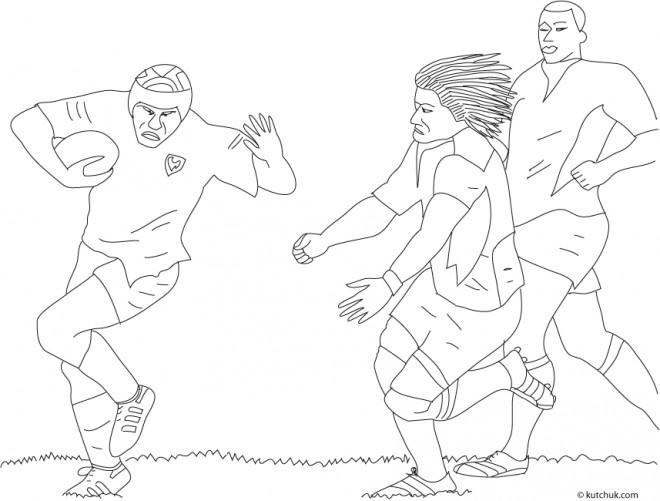Coloriage et dessins gratuits Rugby Français au crayon à imprimer