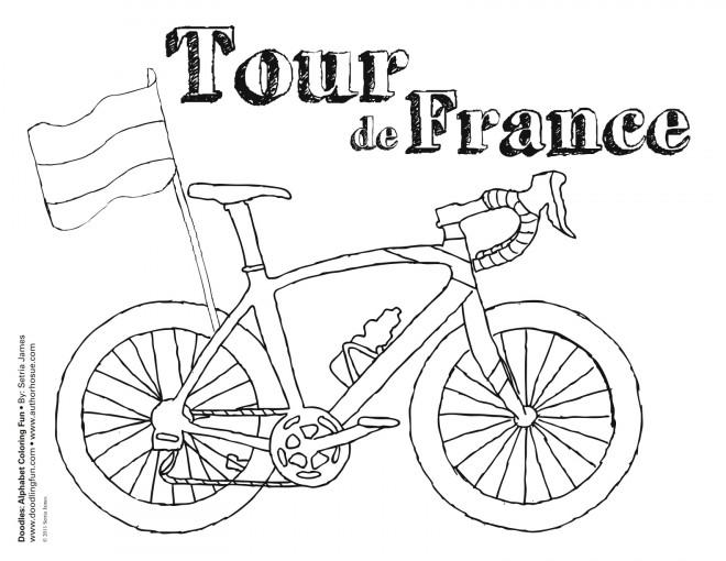 Coloriage Tour De France Dessin Gratuit à Imprimer