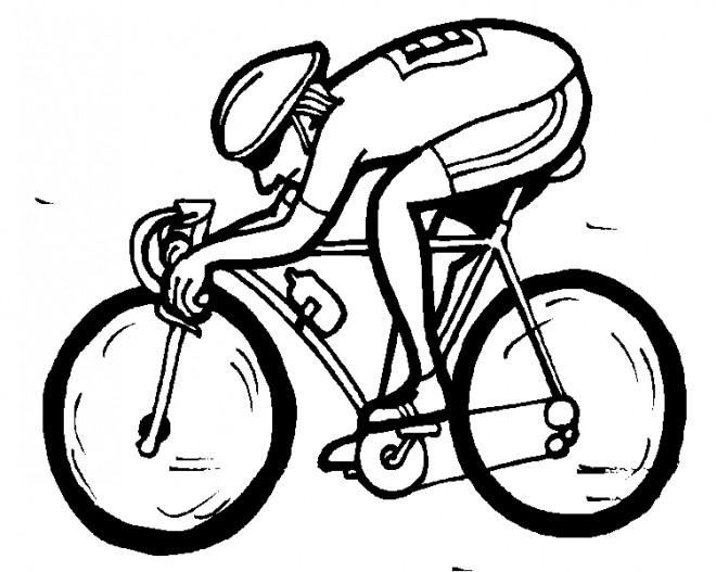 Coloriage et dessins gratuits Un Cycliste en France à imprimer