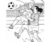 Coloriage Un Match de Football