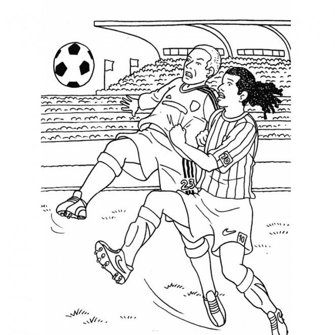 Coloriage et dessins gratuits Un Match de Football à imprimer