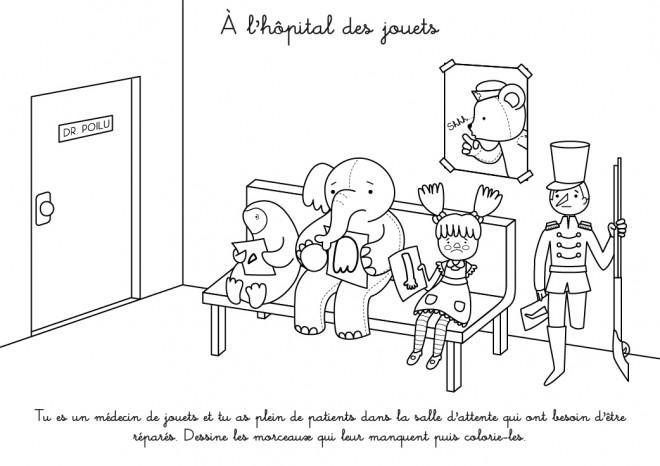 Coloriage et dessins gratuits A L'Hôpital des Jouets à imprimer
