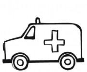 Coloriage Ambulance de L'Hôpital