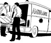 Coloriage Ambulance pour Intervention immédiate