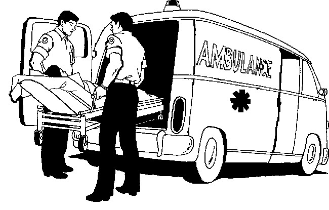 Coloriage Ambulance Pour Intervention Immediate