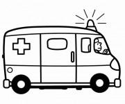 Coloriage Ambulance qui sonne