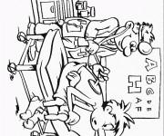 Coloriage et dessins gratuit Docteur Contrôle le Patient à imprimer