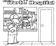 Coloriage Enfants qui travaillent à L'Hôpital
