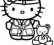 Coloriage Hello Kitty Docteur Disney