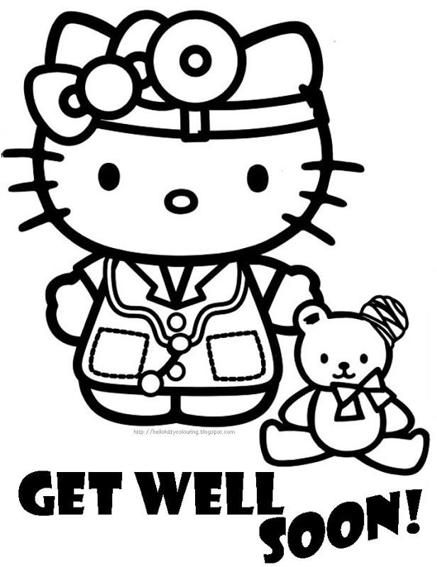 Coloriage et dessins gratuits Hello Kitty Docteur Disney à imprimer