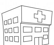 Coloriage dessin  Hopital 16
