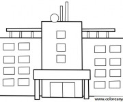 Coloriage dessin  Hopital 18