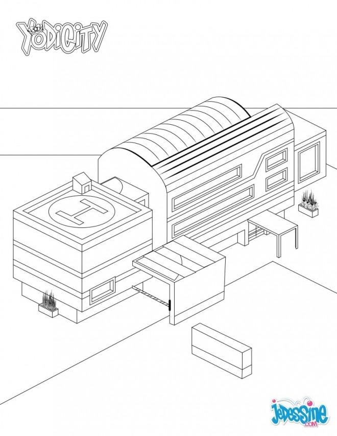 Coloriage et dessins gratuits Hôpital à décorer à imprimer