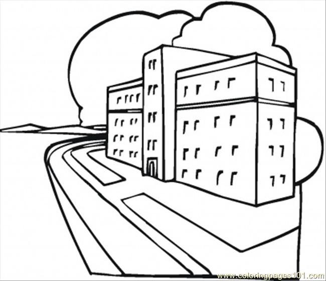 Coloriage et dessins gratuits Hôpital à télécharger à imprimer