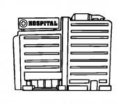 Coloriage et dessins gratuit Hôpital Bâtiment à imprimer