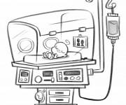 Coloriage Hôpital Bébé nouveau-né