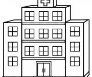 Coloriage Hôpital facile