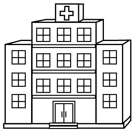 Coloriage et dessins gratuits Hôpital facile à imprimer