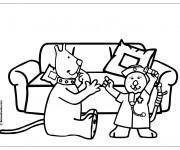 Coloriage et dessins gratuit Hôpital Humour à imprimer