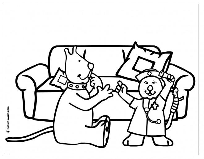 Coloriage et dessins gratuits Hôpital Humour à imprimer