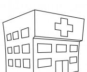 Coloriage et dessins gratuit Hôpital stylisé à imprimer
